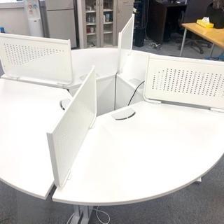 【早い者勝ち!】オフィス円形デスク・ホワイト