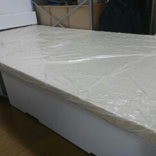 引き出しつき組み立て式シングルベッド