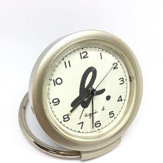 アニエス・ベー テーブルクロック 置き時計 可動式 目覚まし機能...