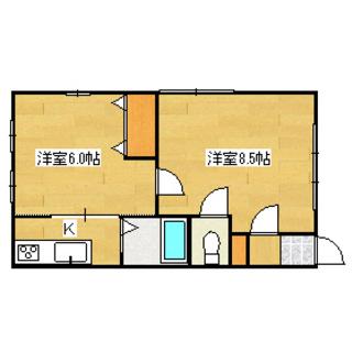 【梅原アパート(2K)】★初期費用4,940円~!★家賃1ヶ月無料...