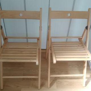 イケアの折りたたみ椅子2脚
