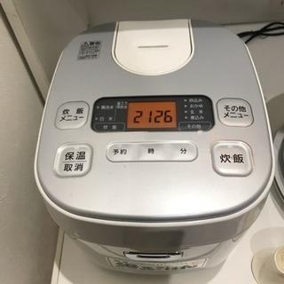 【1年使用】炊飯器