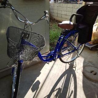 [値下げ]ママチャリ子供乗せ自転車