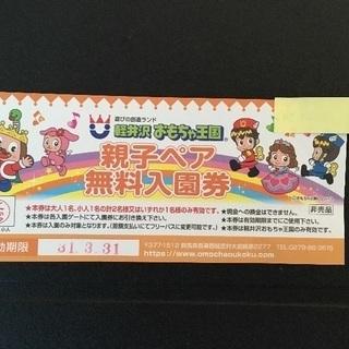 軽井沢おもちゃ王国親子ペアチケット1枚
