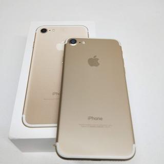 SIMフリー iPhone 7 32GB Gold 新同品 バッ...