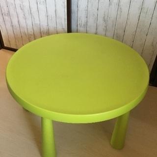 IKEA MAMMUTシリーズ 子供用テーブル/グリーン