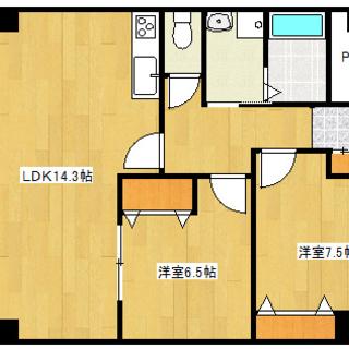 【ロイヤルハイツ掛川2-2号室(2LDK)】仲介手数料0円!礼金0...
