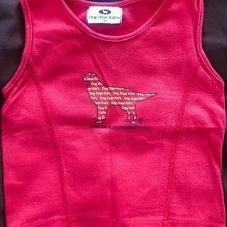 Dog Dept Kid's 赤いランニングシャツ サイズ90 ...