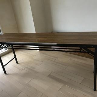 512_折りたたみテーブル2脚 会議机 長机 ミーティングテーブル...
