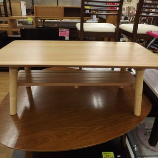 折りたたみテーブル 簡易テーブル ローテーブル 棚付 木製 幅90...