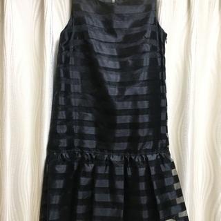 結婚式参列などに… 日本製 透け感ある黒ドレス ワンピ