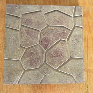 コンクリート製カラー平板;乱張り模様;SL・L・L ブラウン色 3...