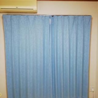 明日まで!ニトリ ブルーの遮光カーテン