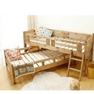 日本製 親子ベッド/二段ベッド すのこ
