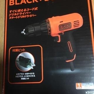 ブラック&デッカー 未使用品 スマートドリルドライバー  KR1...