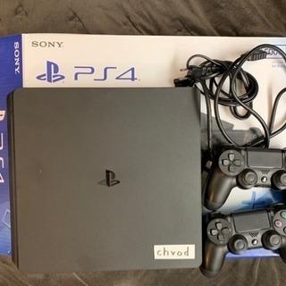 PS4 500GB ジェットブラック コントローラー2個付
