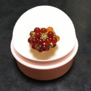 赤メノウのリング(天然石)