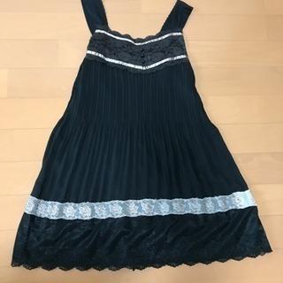 2回着用のみ。黒レースワンピースドレス
