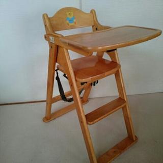 お取引決定★テーブル付き 木製ベビーハイチェア 折り畳み式