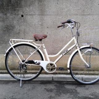 【取引決定】26インチ自転車6段変速オートライト付