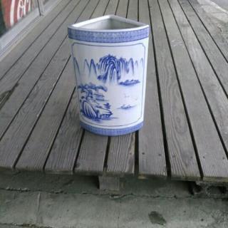 中古 傘立て 陶器 中国美術 置物