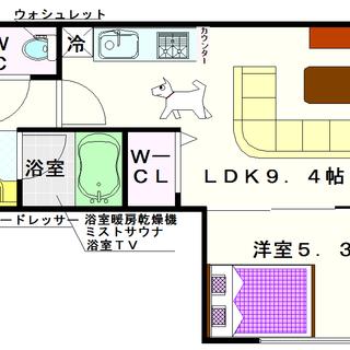 【グランシス難波西】5号タイプ!1LDKタイプ!ワンちゃんOKよ☆