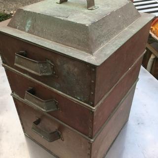 古銅 3段蒸し器