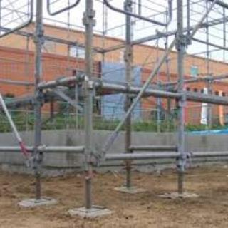 鳶職 クサビ式足場の施工