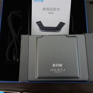Bluetooth Keyboard 3つ折りタイプ ブラック ...