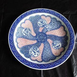 有田焼 染付け 大皿 花鳥 色絵 扇皿揃え 新品未使用