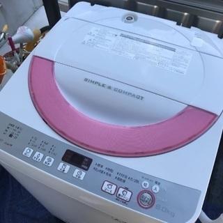 取引中2016年製シャープ全自動洗濯機6キロ美品。千葉県内配送無料...