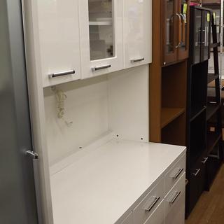 レンジボード キッチン収納 食器棚 家電ボード 白 幅120cm ...