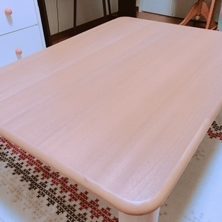 天然木 折り脚座卓 未使用