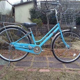 ☆無料☆26インチ水色自転車