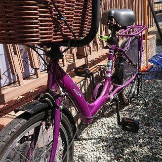 ビルゴミニ パープル 子供乗せ自転車【値下げ】