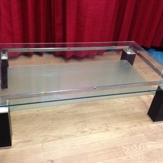 f190313-016Z ニトリ  ガラス天板のセンターテーブル ...