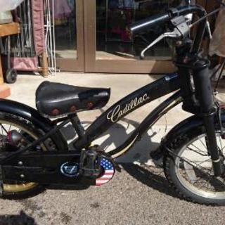 キャデラックの自転車 16インチ 補助輪付き