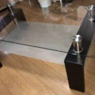 ニトリ ガラステーブル 美品
