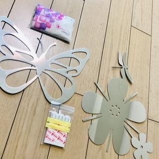 北欧デザイン★蝶と花のインテリアミラー
