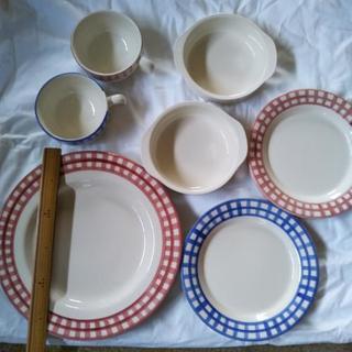 ペア食器セット  (皿、グラタン皿、スープカップ)