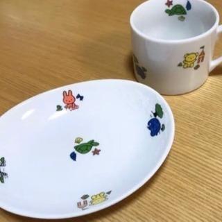 【新品・未使用】コップと楕円形皿の2点セット*