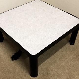 こたつテーブル リバーシブル天板 白と黒