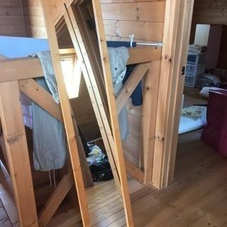木目調 全身鏡