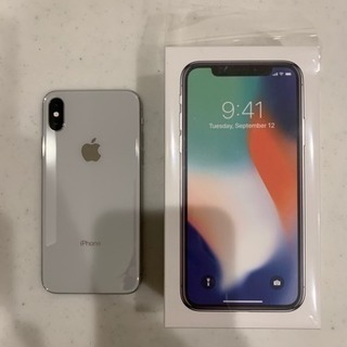 iPhone x 256GB シルバー SIMフリー