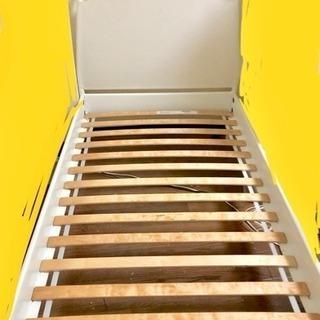IKEA イケア シングルベッド ベッド 白