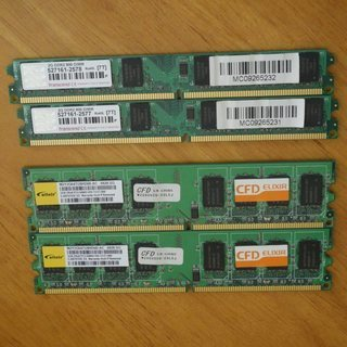 TRANSCEND DDR2 800 2GB X 2、ELIXE...
