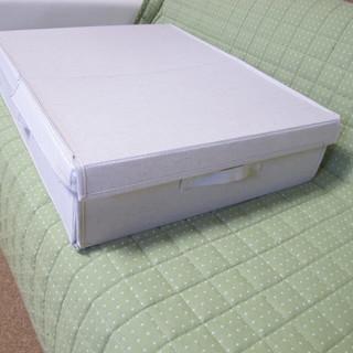 【中古品】無印良品 ベッド下収納ボックス(布貼り) W48cm ...