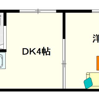 【ビジタル浪速2】1号タイプ!1DKタイプ!保証人も保証会社も不要☆