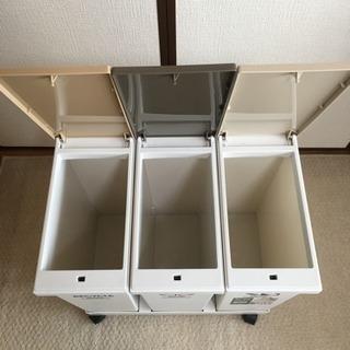 【募集中】ASVEL 資源ごみ 横型分別ワゴン ゴミ箱 - 家具