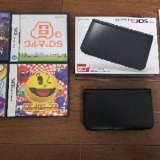 任天堂3DSLL本体1台  ソフト4個